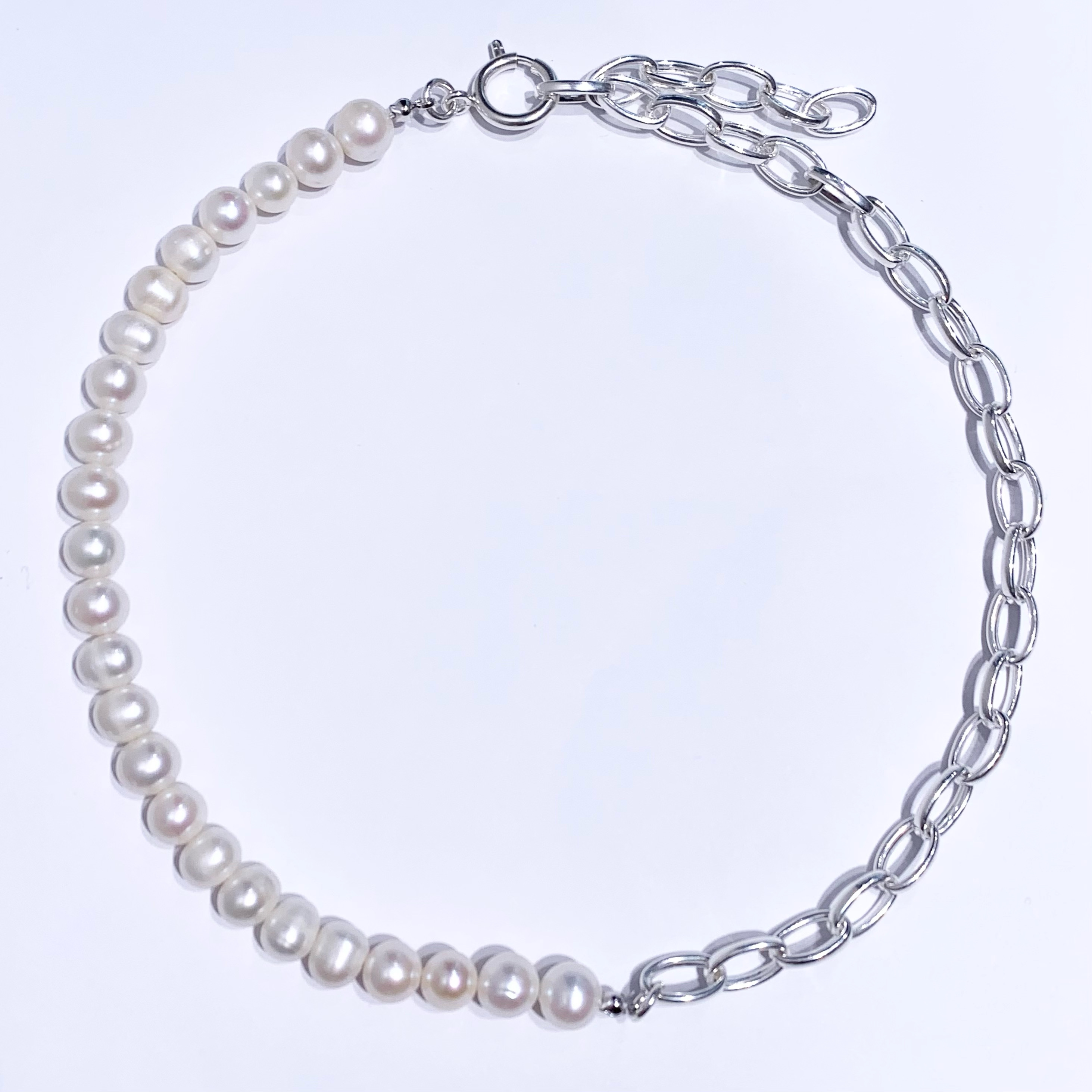 PEARL&CHAIN NECKLACE