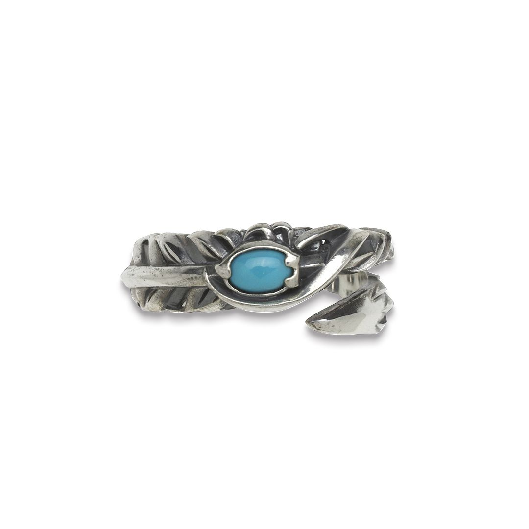 INTELLECTUAL FEATHER TURQUOISE FREE RING